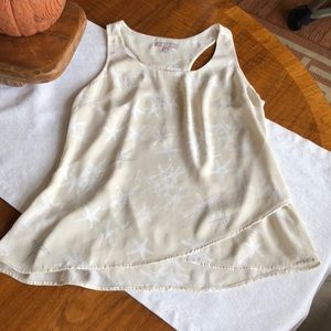 Light and flowy racer back tank with starfish